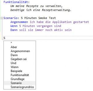 Specflow auf deutsch